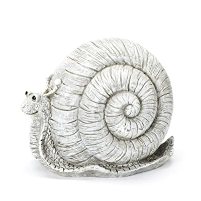 Roman Exclusive Pudgy Pal Snail Garden Statue, 8-Inch, Made of Dolomite : Garden & Outdoor