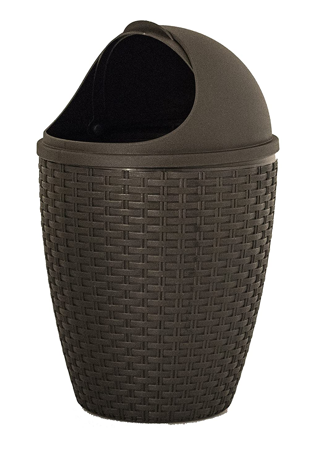 1.88-Gal Round Roll Up Trash Can Color: Beige Superior Performance 465