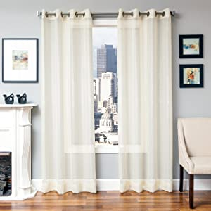 Softline Home Fashions 924LEXI27096 Lasalle Single Curtain Panel, Cream