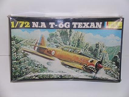 "HELLER  N.A T-6G /""TEXAN/"" AIRPLANE  PLASTIC MODEL KIT-FREE SHIPPING"