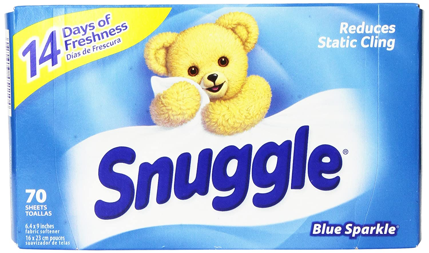 Amazon.com: Snuggle Fabric Softener Dryer Sheets, Blue Sparkle, 70 Count: Health & Personal Care
