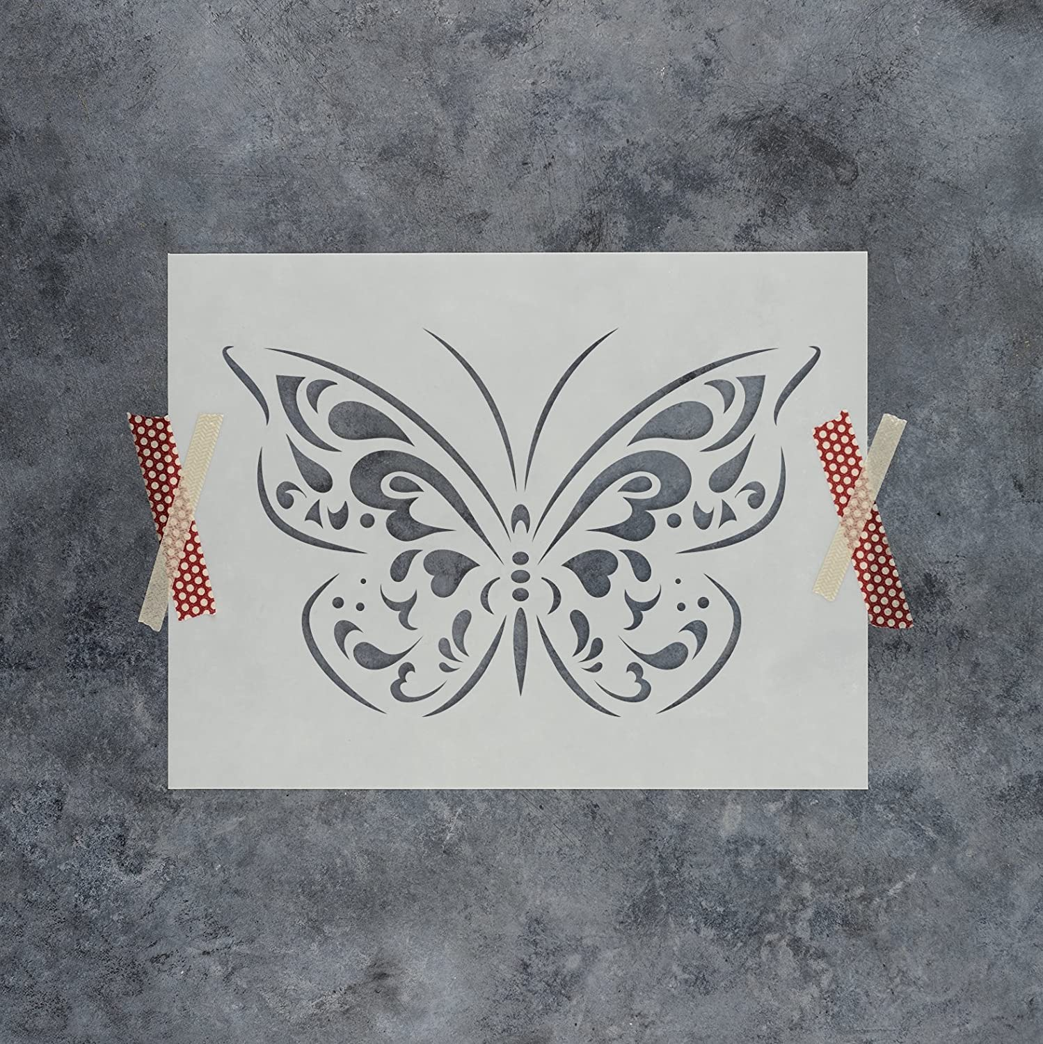 Amazon.com: Butterfly Stencil Template - Reusable Stencil with ...