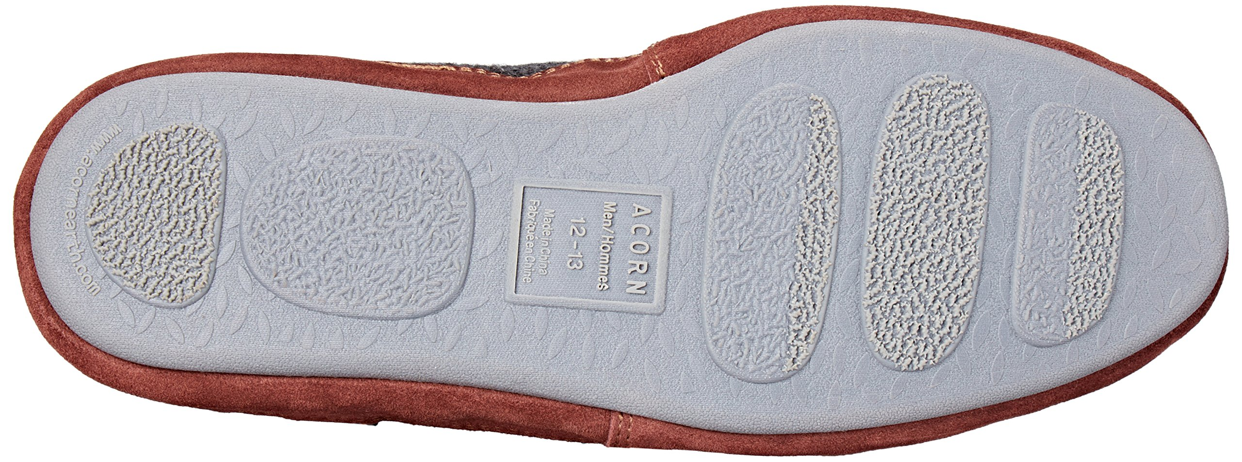 Acorn Men's Slouch Boot Slipper, Charcoal Ragg Wool, Medium/9-10 B US by Acorn (Image #3)