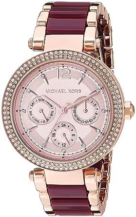 2f5e9e05707c Amazon.com  Michael Kors Women s MK6536 Rose Gold One Size  Watches