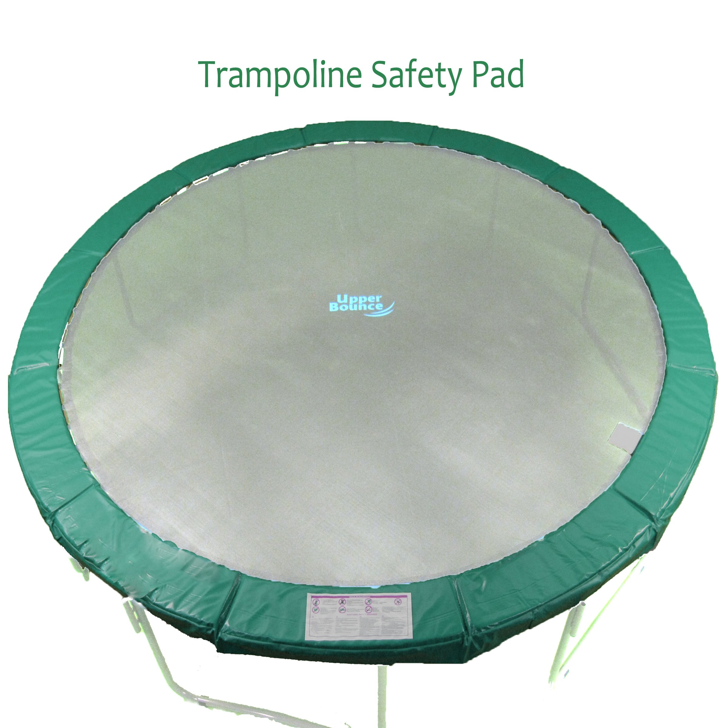 Upper Bounce 12' Super Trampoline Replacement Safety Pad With Spring Cover Fits 12 FT Round Trampoline Frames With 10 wide In Green Color by Upper Bounce (Image #1)
