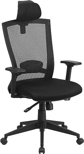 Flash Furniture High Back Black Mesh Executive Swivel Ergonomic Office Chair