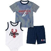 Nautica Sets (KHQ) Baby Boys' Bodysuit Shorts Set, Navy/White, 0-3 Months