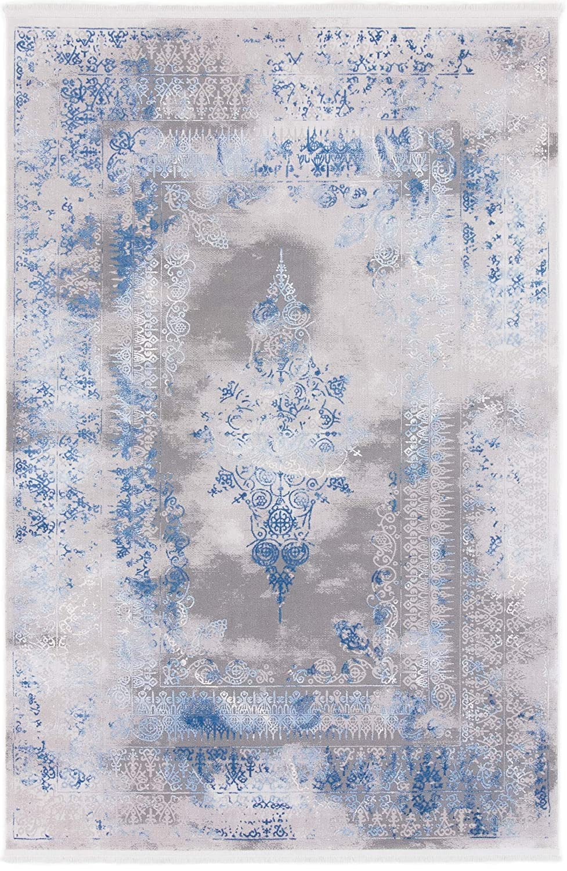 CarpetFine  Vintage Florena Teppich 80x150 cm Blau - Vintage