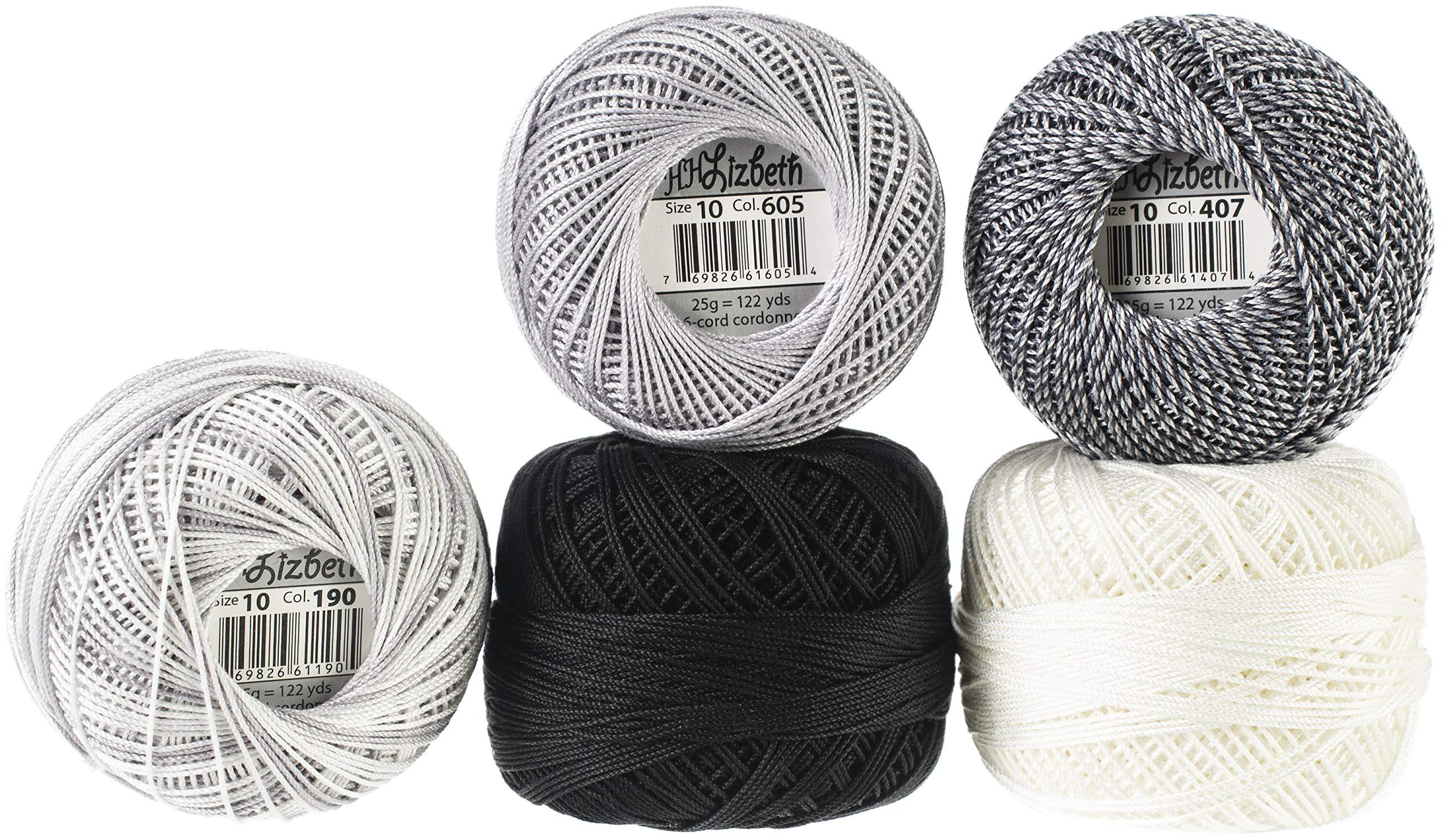 Handy Hands Lizbeth Specialty Pack Cordonnet Cotton Size 10-silver Clouds 5/pkg