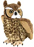 Wild Republic Great Horned Owl Plush, Stuffed Animal, Plush Toy, Gifts for Kids, Cuddlekins 12 Inches