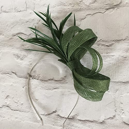 Image Unavailable. Image not available for. Colour  Dark green fascinator adc5cec9bab