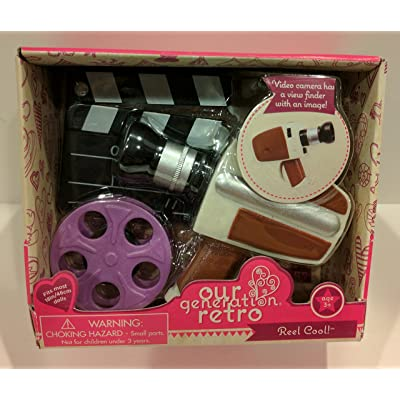 Our Generation Retro Reel Cool 18 Doll Accessories Video Camera & Film: Toys & Games