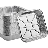 55 PACK - Aluminum Square Pans, Roasting Pans, Disposable Baking Pans, Square Cake Pans. For Baking Brownies and Meal…
