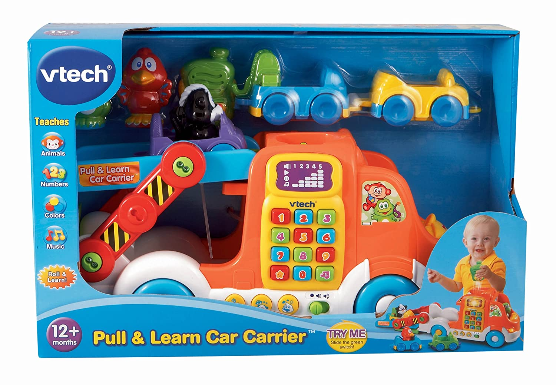Frustration Free Packaging VTech--Import 80-049709 VTech Pull /& Learn Car Carrier