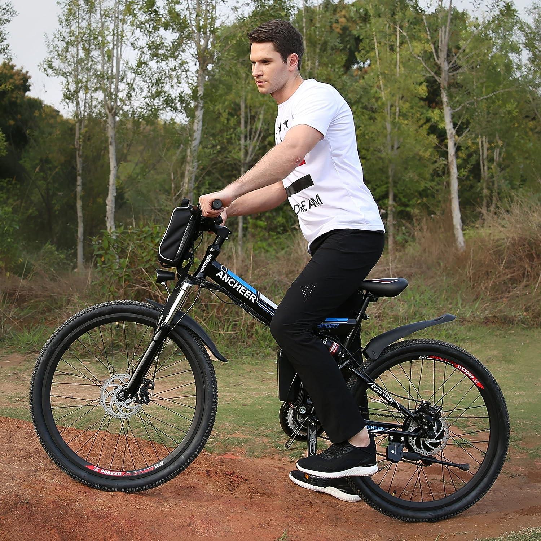Ancheer - Bicicleta eléctrica plegable de 26