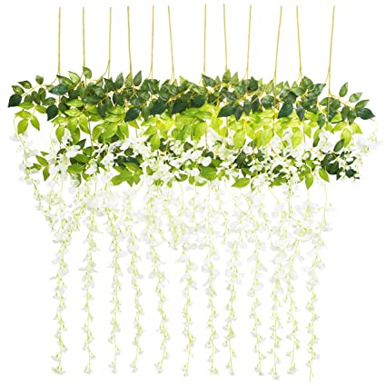Amazon 12 Pack Wisteria Artificial Flowers 37 Feetpc