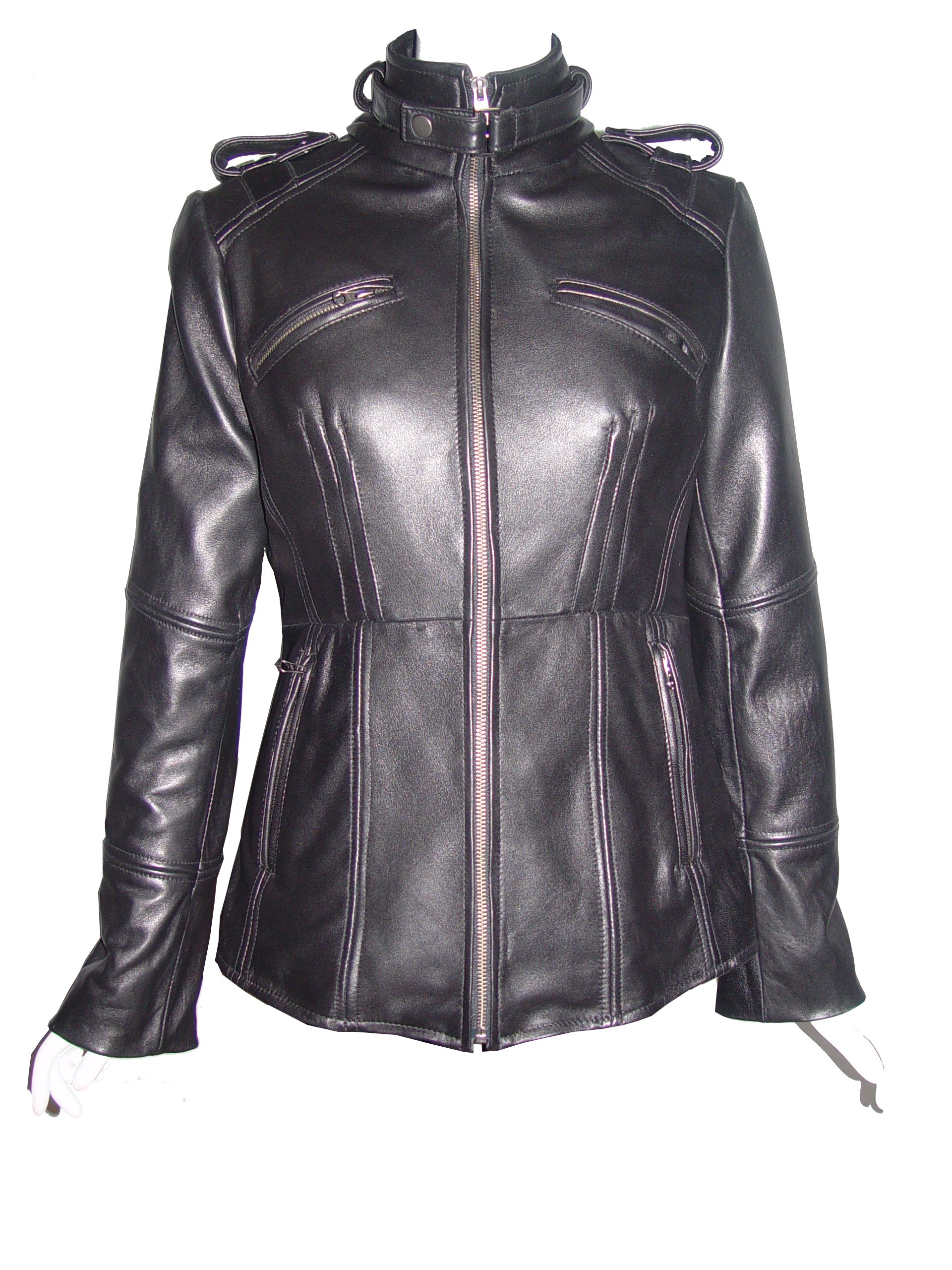 Nettailor 4205 Fine Leather Motorcycle Jackets Ladies Genuine Lambskin