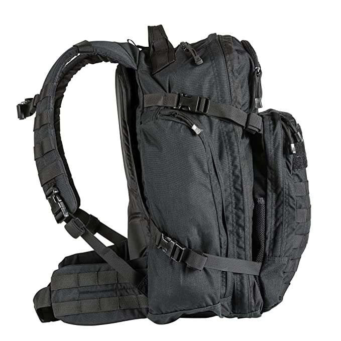 cf1626f3649e Amazon.com : 5.11 Rush USA 3-Day Tactical Backpack with Codura Nylon,  MOLLE, Sunglass/Gadget Pocket, Hydration Pack Pocket - Style# 56361 - Black  : Sports & ...