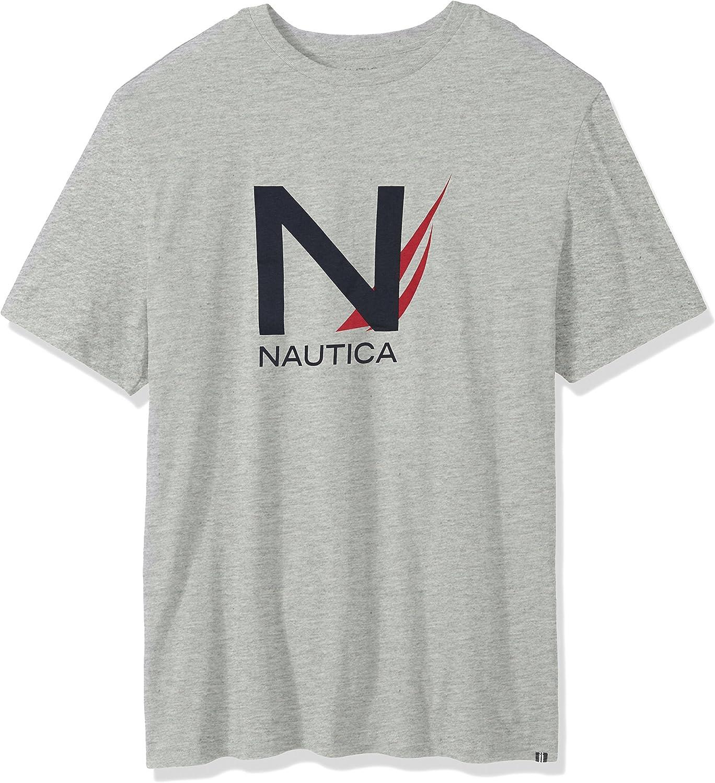 NEW Nautica Mens Logo crew neck short sleeve T-shirt Tee Top Big and Tall