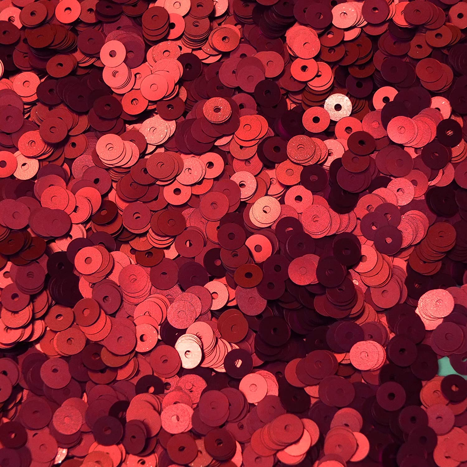 3mm Sequins Red Metallic Made in USA