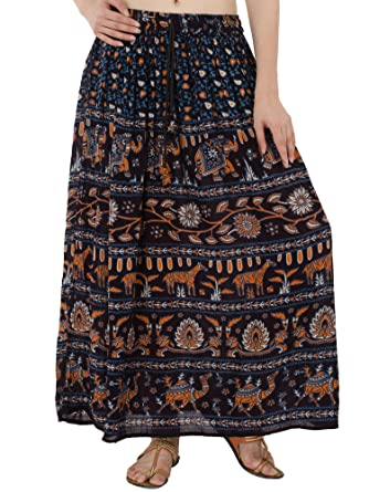 1dfe1b82826 Women s Elegant Summer Full Length Animal Print Pleated Cotton Long Maxi  Skirt Dress  Amazon.co.uk  Clothing