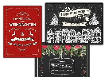 Weihnachtskarten Set Günstig.Vintage Retro Weihnachtskarten Set Grußkarten Weihnachten