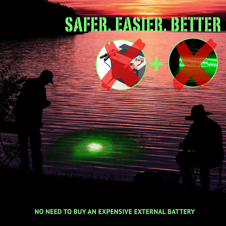 Amazon.com : Large Green LED Underwater Night Fishing Light ...