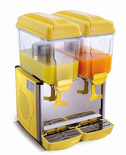 Dispensador de bebidas frías 2 x 12 L, color amarillo COROLLA2G SARO -