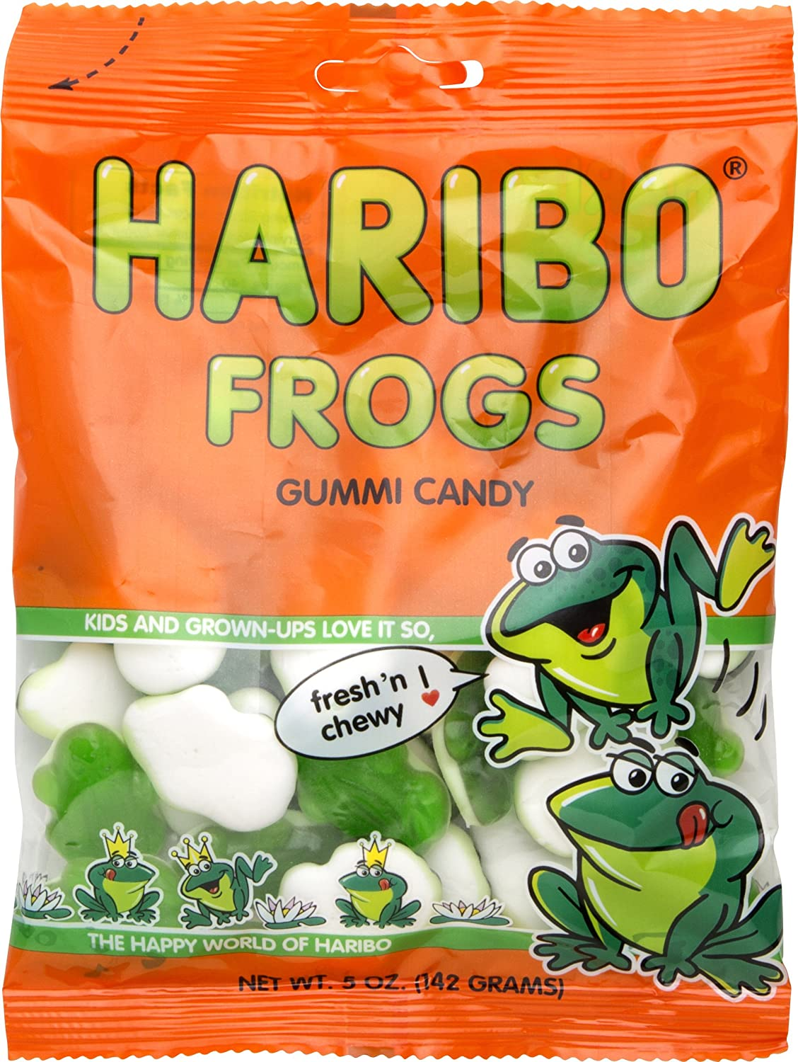 Haribo Frogs Gummi Candy, 5 oz (Pack of 3)