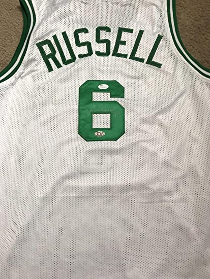 eddb8a3a8 Image Unavailable. Image not available for. Color  Bill Russell Signed  Jersey - Coa - JSA Certified ...