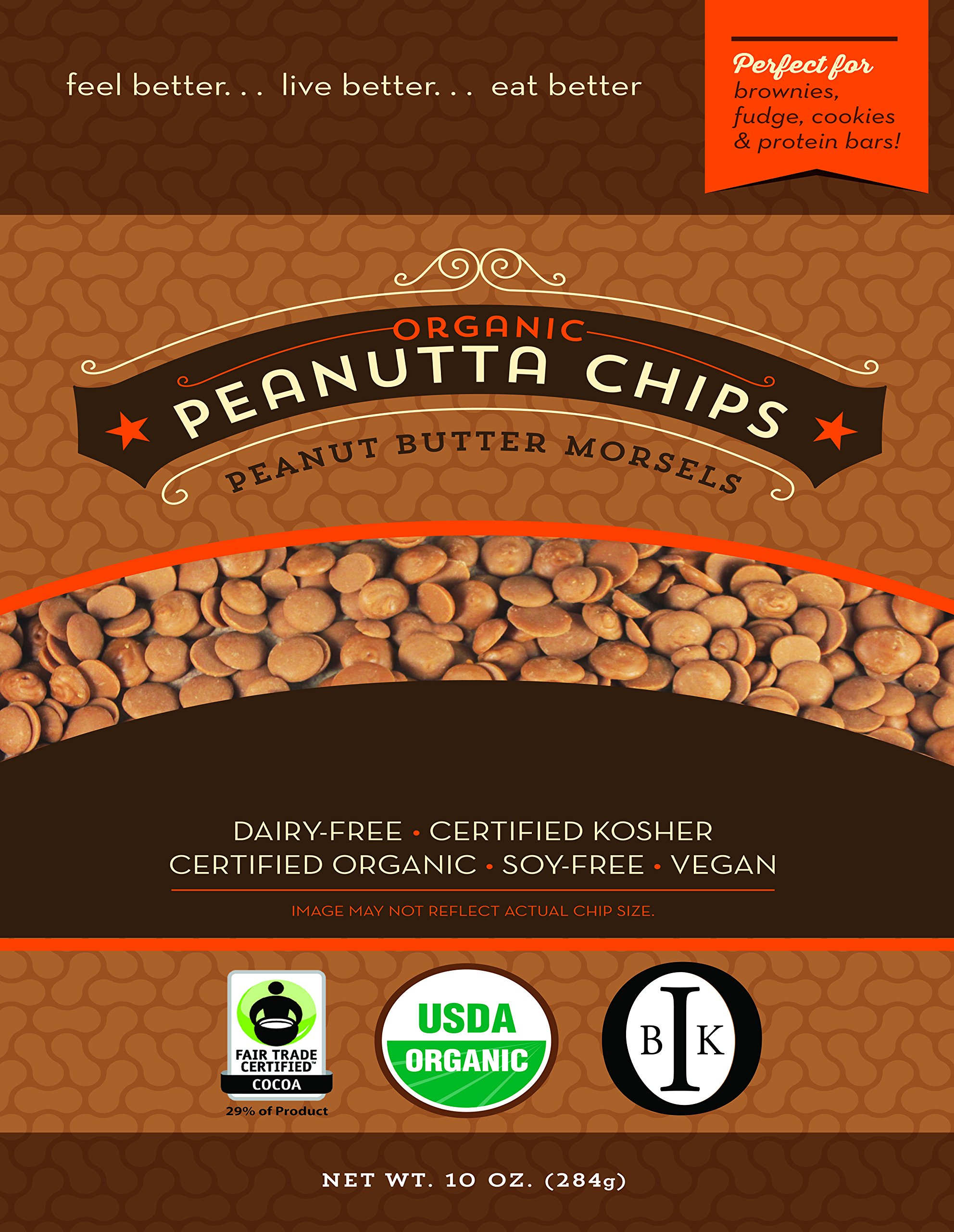 Organic Peanut Butter Baking Chips made with Coconut Palm Sugar