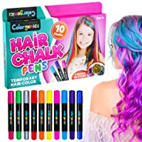 Colorgenics Hair Chalk for Girls, Temporary Hair Chalk for Kids, 10 Color Hair Chalk...