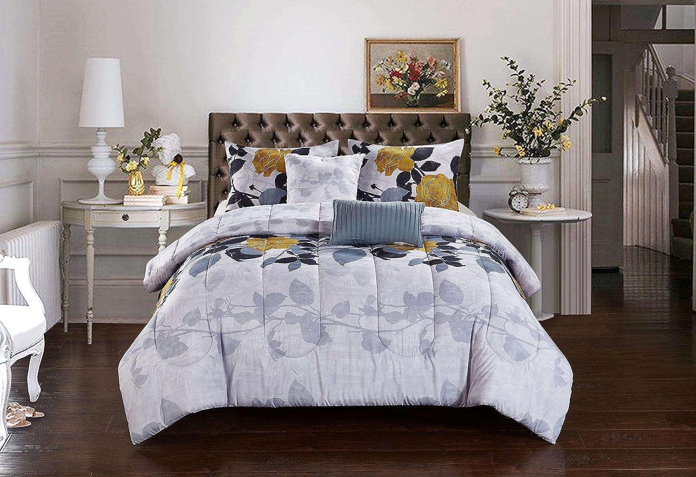 コルシカ5 Piece Comforter Set by Casa キング WK680341 B06Y68ZXYK キング|マルチカラー マルチカラー キング