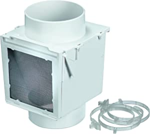 """Deflecto Extra Heat Dryer Saver, Accommodates 4"""" Transition Ducts, Includes 2 4"""" Plastic Clamps, White (EX12)"""