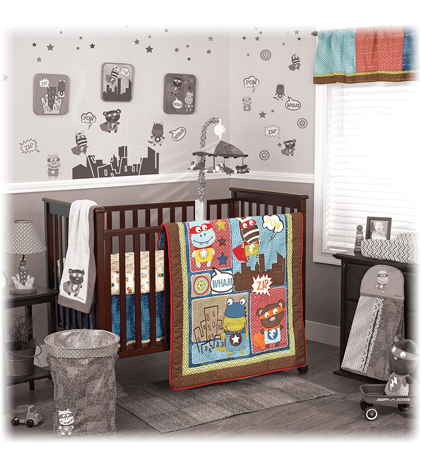 Cocalo 4-Piece Bedding Superhero Pals, Brown/Blue/Red/Yellow 7133564