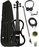 Barcelona 4/4-Size Electric Violin - Black Bundle