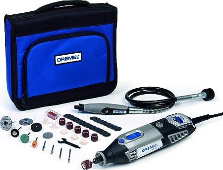 Dremel 4300 Outil Rotatif Multifonction 175W avec 3 Adaptations 45 Accessoires,