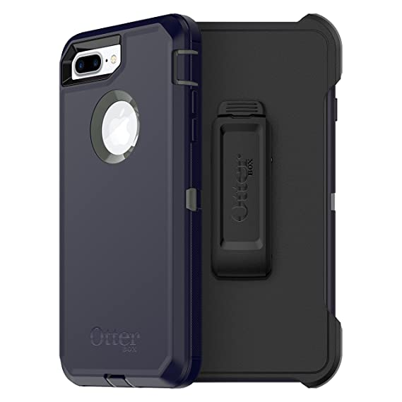 low priced 80b65 60cd0 OtterBox DEFENDER SERIES Case for iPhone 8 Plus & iPhone 7 Plus (ONLY) -  Frustration Free Packaging - STORMY PEAKS (AGAVE GREEN/MARITIME BLUE)