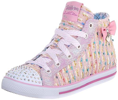 Skechers Chit Chat Sweet Seekers - zapatilla deportiva de lona niña, Rosa (pnk), 34: Amazon.es: Zapatos y complementos