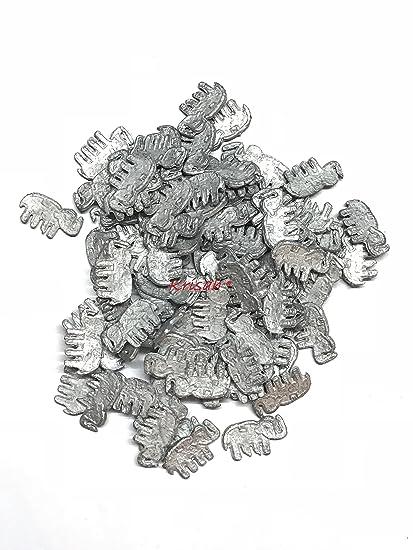 Krisah® Haathi/Elephant Ranga Remedy/Lead Figurines for Rahu Dosh Shanti -  for Floating in Water- Jal Mein Pravahit Karne Ke Liye (11, Elephant)