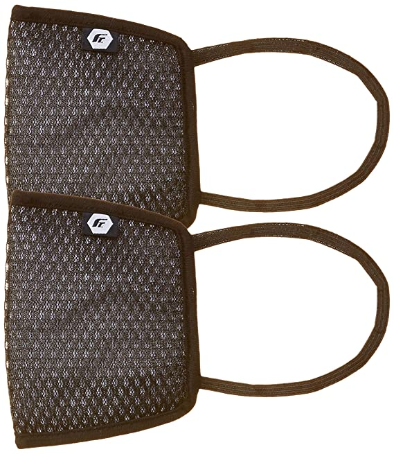 Fort Collins Unisex Cotton Face Mask (Pack of 2) (101_Black_One Size)