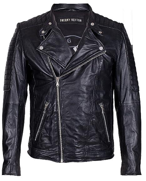 c31849dccfb Freaky Nation Men s Crossover Jacket Black  Amazon.co.uk  Clothing