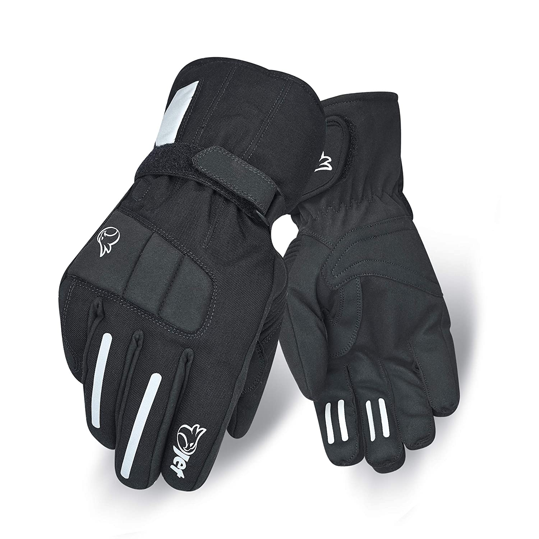 Jet Motorrad Handschuhe Winter Wasserdicht Textil Reflektierende Details Kn/öchelschutz VENTURE L, Schawrz