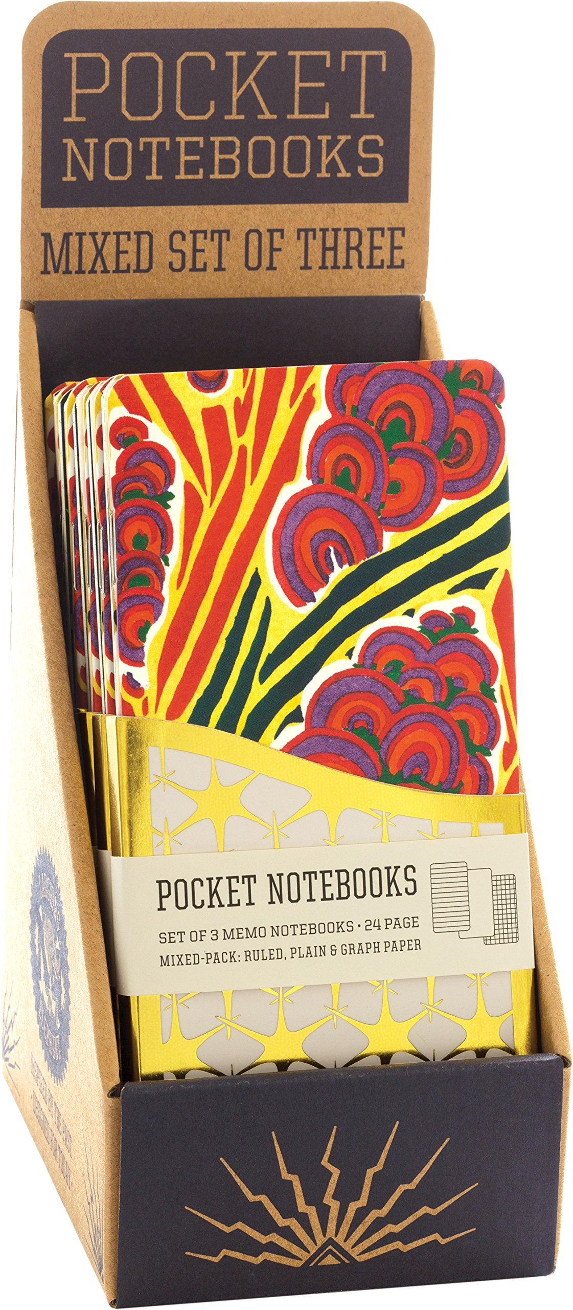 Floréal - A pack of 3 Memo Notebooks with French Art Deco Floral Designs - Counter Display with 6 Pieces Total. (Journal-Notebooks) ebook