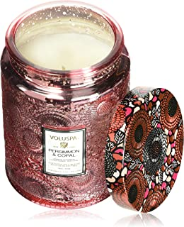 product image for Voluspa Persimmon and Copal Large Embossed Glass Jar Candle, 16 Ounces