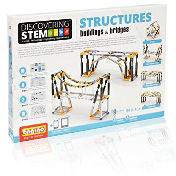 Engino Discovering STEM Structures Constructions & Bridges   9 Working  Models   Illustrated Instruction Manual   Theory & Facts   Experimental