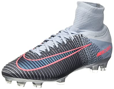 NIKE Mens Mercurial Superfly V FG Cleats - (Light Armory BlueArmory Navy)