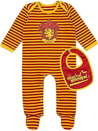2eb16d97f Amazon.com: HARRY POTTER Baby Boys' Gryffindor Footies & Bib Set ...