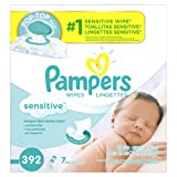 Amazon Price History for:Pampers Baby Wipes Sensitive 7X Pop-Top Packs, 392 Diaper Wipes