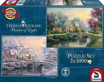 Im Naturparadies Puzzle 1000 Teile Spiel Deutsch 2015 Thomas Kinkade
